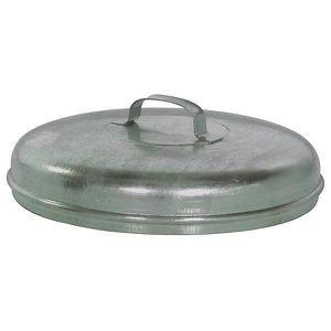 POUBELLE - CORBEILLE Couvercle en tôle d'acier galvanisée - pour cuve r