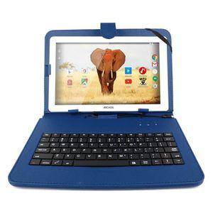 CLAVIER POUR TABLETTE Etui bleu + clavier QWERTY pour tablettes Archos 1