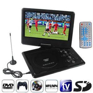 LECTEUR DVD PORTABLE DVD-TV-Console de jeux noire (SD,USB,écran 9.5 p)