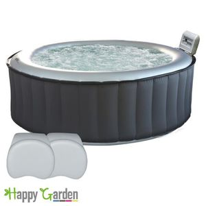 SPA COMPLET - KIT SPA Pack Spa rond gonflable SILVER CLOUD - 6 places -