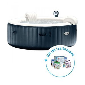 SPA COMPLET - KIT SPA Pack Spa gonflable Intex Pure Spa Plus Bulles 4 pe