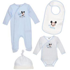 BODY Set Body pyjama bavoir bonnet bébé Garçon MICKEY -