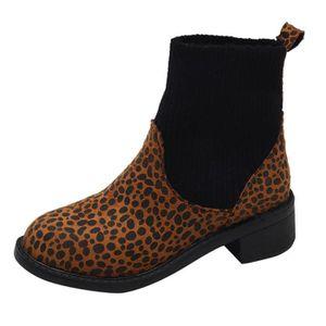 BOTTE Loisirs Leopard Print femmes Keep Warm Chaussures