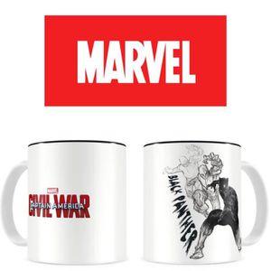 BOL - MUG - MAZAGRAN Mug WTT Marvel - Civil War - Black Panther - blanc