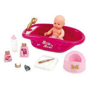 ACCESSOIRE POUPON SMOBY Baby Nurse Set Baignoire + Accessoires