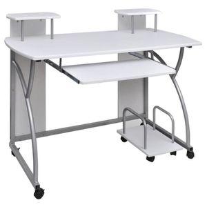 MEUBLE INFORMATIQUE Table de bureau blanche pour ordinateur