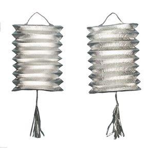 LANTERNE FANTAISIE Lanternes en Carton Métal Argent