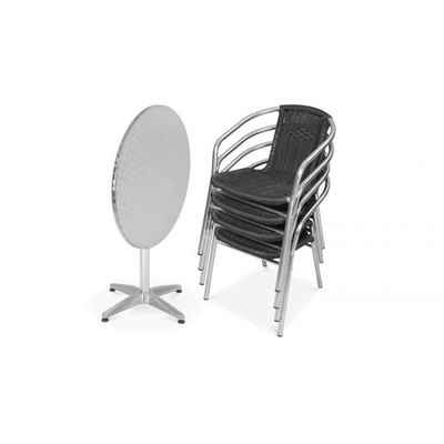 Chaise de bistrot jardin en fonte d\'aluminium blanc MDJ10064 ...