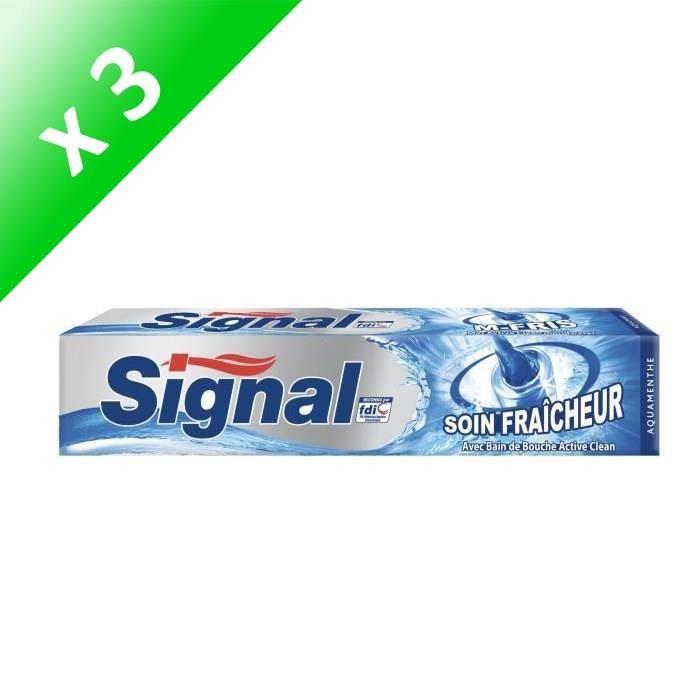 SIGNAL Lot de 3 dentifrices - Soin fraîcheur - Aquamenthe - 75 ml