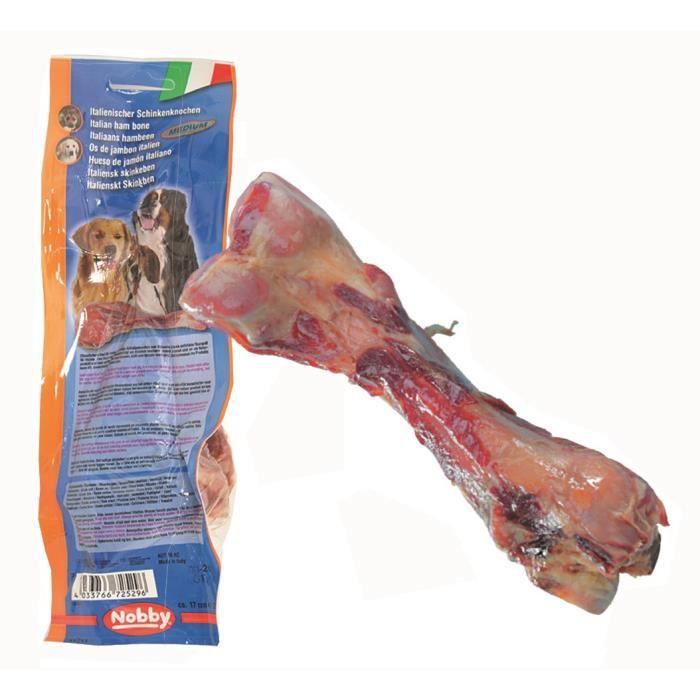 NOBBY Os jambon de Parme maxi 24cm - Pour chien