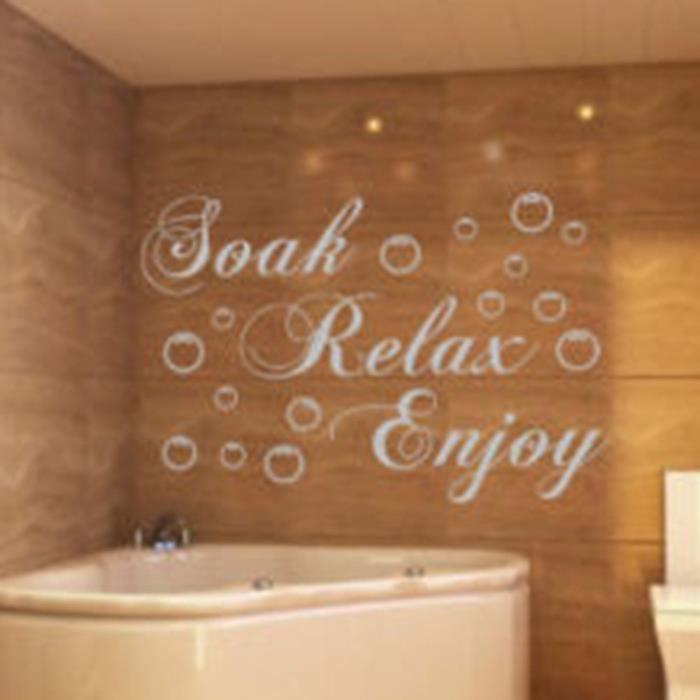 Soak relax enjoy Autocollant mural anglais de chambre à coucher ...
