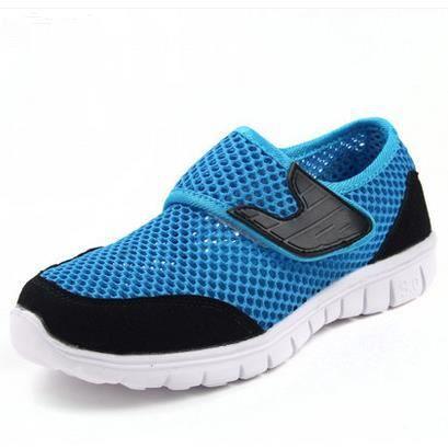 Chaussures de sport respirant chaussures de maille chaussures garçons de Réseau Enfants-Santé, bleu 32