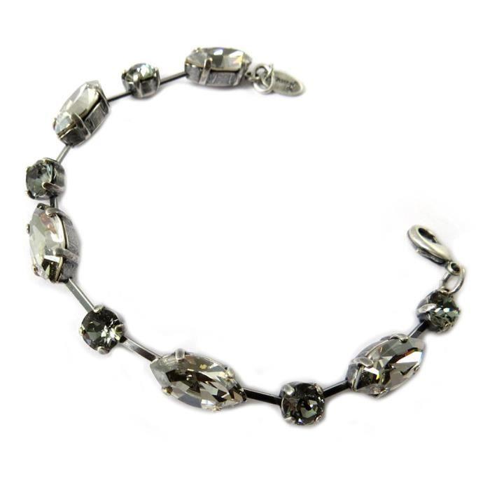 Bracelet artisanal Tsarine gris 2 tons... [P0930]