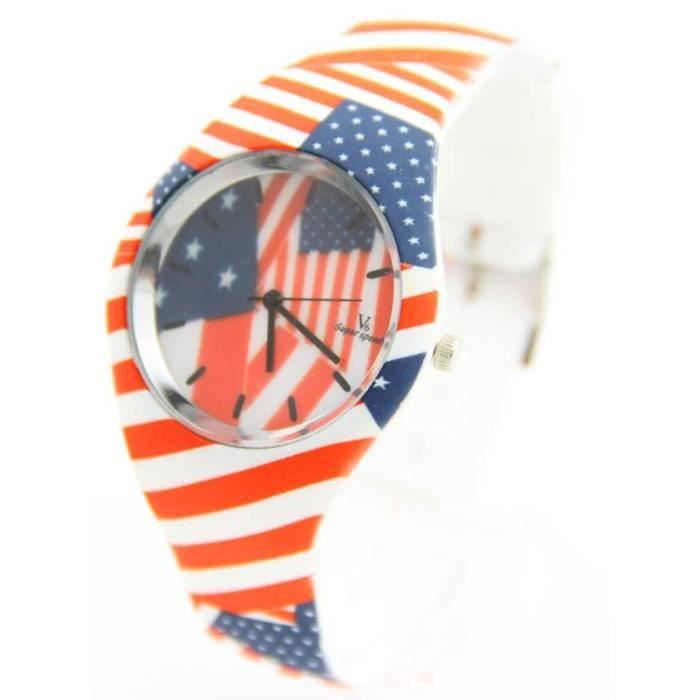 jolie montre femme silicone blanc saneesi 2845 achat vente montre soldes d s le 10. Black Bedroom Furniture Sets. Home Design Ideas