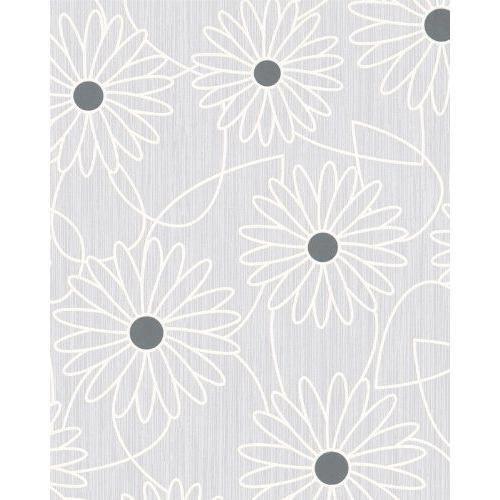 ginas papier peint, couleur : gris, blanc, argenté, 6053-8302