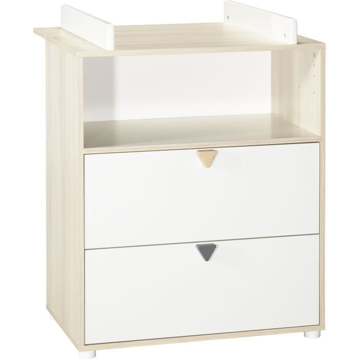 TABLE À LANGER BABY PRICE ENZO Commode à langer 2 tiroirs 1 niche
