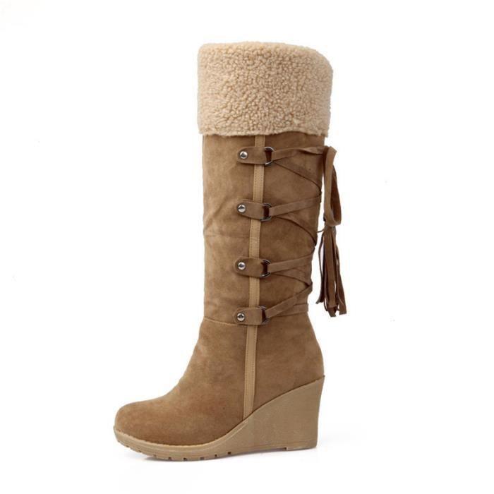 Femme Chaussure Talons hauts Hiver Marque De Luxe Qualité Supérieure Bottines Nouvelle arrivee Durable Confortable Coton bB6iSZJtO