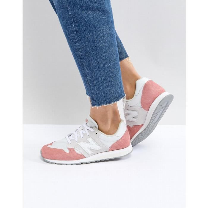 Blanc New Balance Rose 520 Effet En Baskets Color Daim Et Bock MqzLUVjGSp