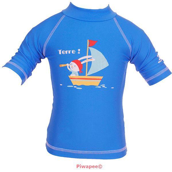 Tee-shirt anti-uv lapin moussaillon 12-24 mois