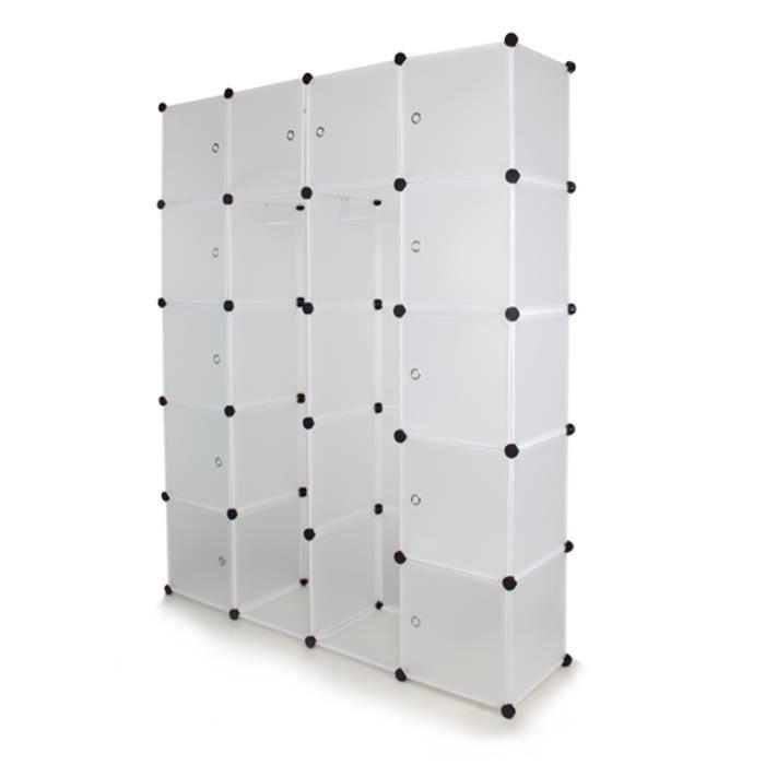 ETAGÈRE MURALE SUNGLE armoire chambre en plastique blanc, étagère