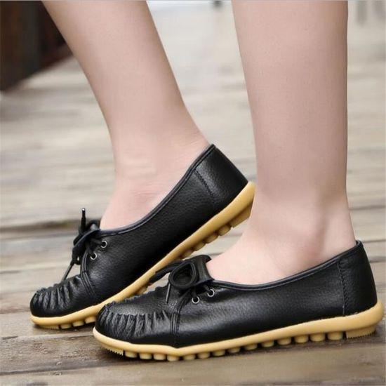 xz041noir35 Leger Ultra Chaussures Femmes Mocassin Antidérapant Ylg lc3F1TuKJ