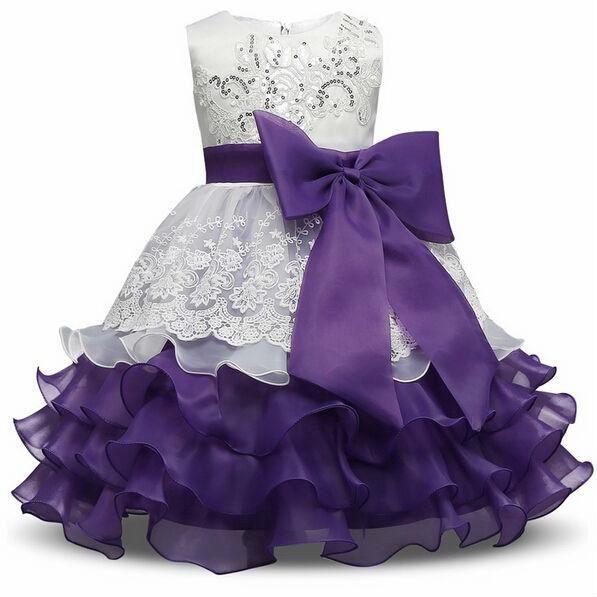 Bébé fille robe dentelle enfants mariage parti vêtements