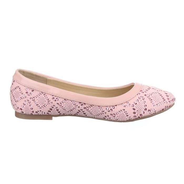 Femme ballerines chaussure babouche Loafers soulier babouche rose