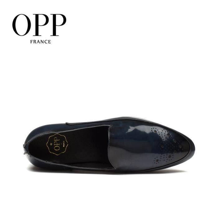 OPP Chaussures Vernis Richelieu OZ618sombre bleu45