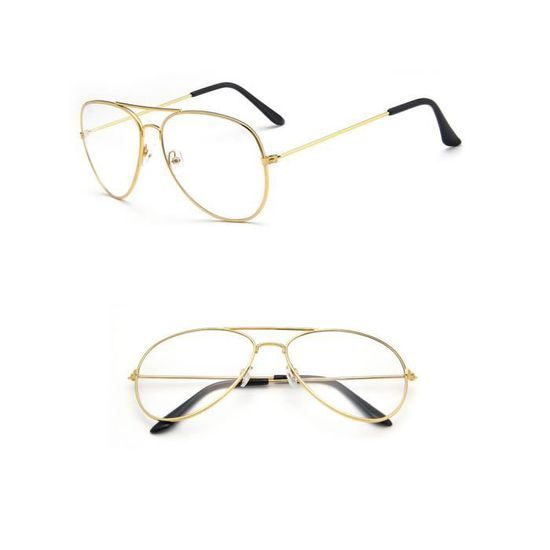 460920df4f Lunette de Aviatuer Vintage avec Verres pour Hommes et Femmes Monture  Lunettes Crapaud Style retro Or Or - Achat / Vente lunettes de vue Lunette  de Aviatuer ...