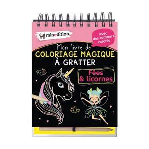 LIVRE LOISIRS CRÉATIFS Mon livre de coloriage magique à gratter Fées & li