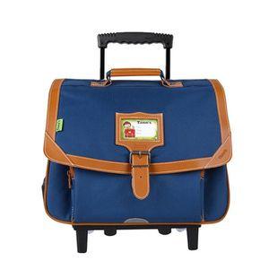 TANN'S Trolley 2 compartiments primaire garçon - 38 cm - Bleu denim