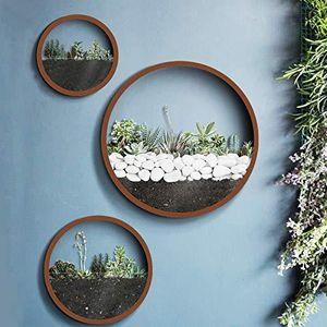 VASE - SOLIFLORE Ecosides 3 Séries de Pot de Fleurs Mural Rond en V
