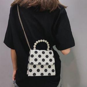 SAC À MAIN Femmes Mode Dot Imprimé Perle couverture sac à ban