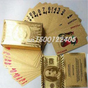 JEU SOCIÉTÉ - PLATEAU Jeu de carte poker couleur or