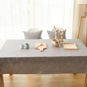 Elegant Nappe En Coton Lin Style Japonais Tissu Pour Table A