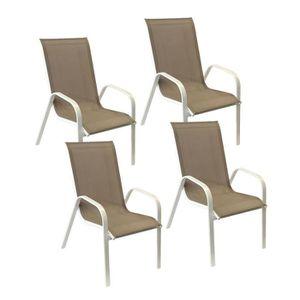 Chaise de jardin textilène - Achat / Vente Chaise de jardin ...
