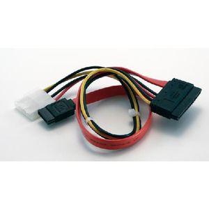 CÂBLE E-SATA Câble Serial ATA avec alimentation (molex femelle)