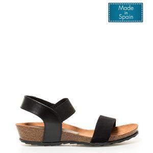 SANDALE - NU-PIEDS Capro 034 sandales en cuir -Hauteur de coin noir: