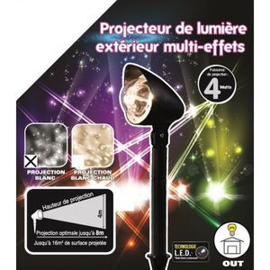 GUIRLANDE DE NOËL Projecteur LED Noël multi effets – Lumière blanche