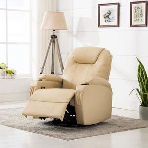 FAUTEUIL Fauteuil inclinable électrique de massage Simili-c