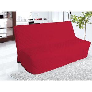 HOUSSE DE CANAPE Housse clic-clac matelassé en coton PANAMA rouge.