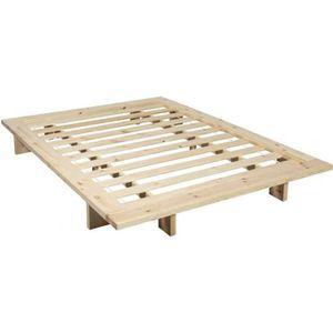 FUTON Structure futon japan en bois naturel 140x200 - Te