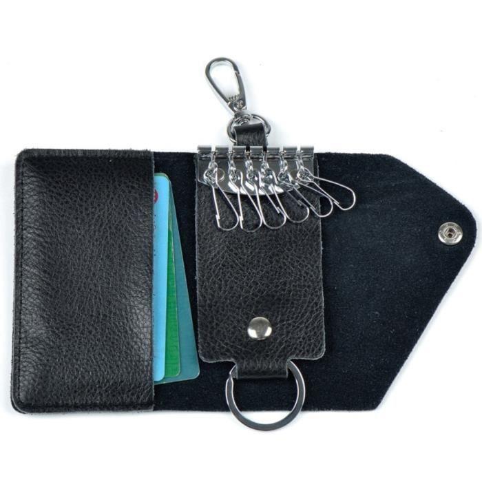 Cuir Etui Porte-Clé, Trésorerie Slot Noir - Achat   Vente porte-clés ... bd48f0f6782