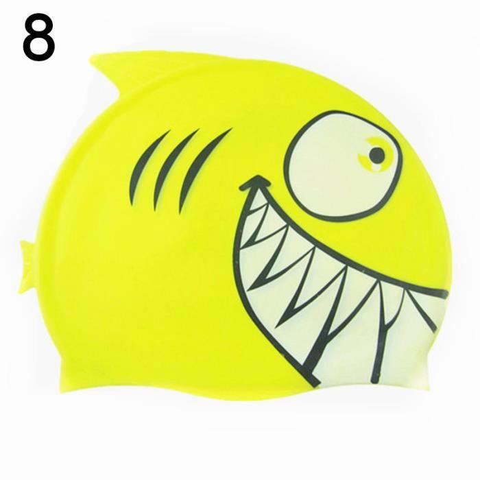 Enfants nager chapeau Silicone drôle poissons enfants natation bonnet de  bain Pour les garçons filles 711e178694f