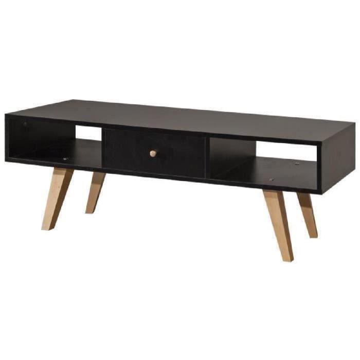 meuble tv noir scandinave achat vente meuble tv noir scandinave pas cher soldes d s le 10. Black Bedroom Furniture Sets. Home Design Ideas