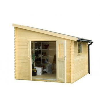 abri de jardin bois 9 7 m2 adossable 28 mm achat vente abri jardin chalet abri de. Black Bedroom Furniture Sets. Home Design Ideas