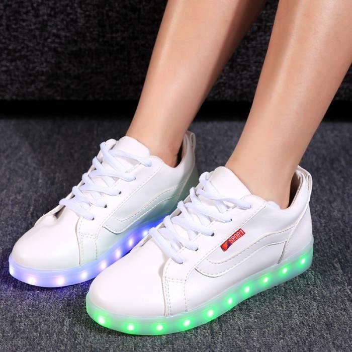 chaussures LED sport Lumière LED Lace Up baskets 40# gxuj5OAkz5