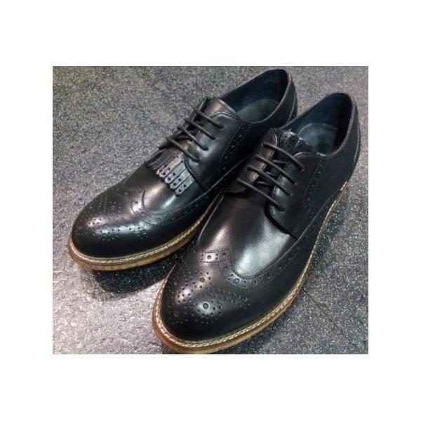 DERBY Chaussures oxford rétro pour homme Noir