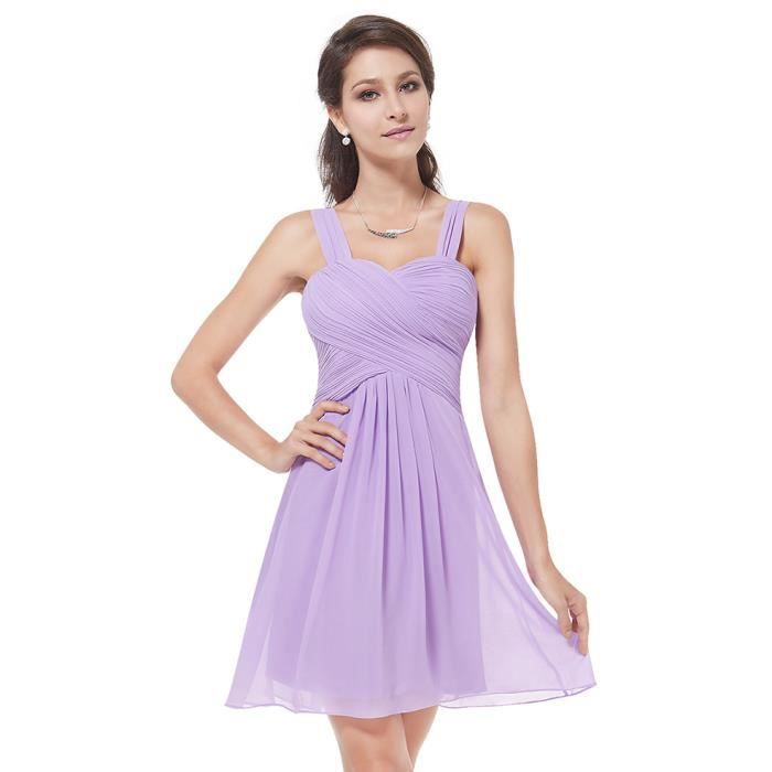 Robe violet clair sling de mariage du genou robe de demoiselle d ...
