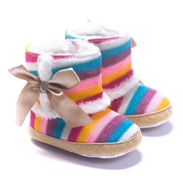 fille arc-en-bébé doux bottes sole de neige chaussures berceau doux bébé bottes OGofO4o